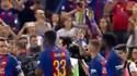 Onde estava Messi quando o Barcelona fazia a volta de honra com a Taça?