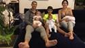 Georgina publica mais uma imagem de família com legenda... inspirada