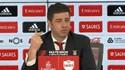 """Rui Vitória explica o que """"saiu do cabedal"""" dos jogadores do Benfica"""