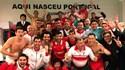 Bracarenses festejaram a 'manita' no balneário em Guimarães
