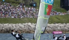 Dupla portuguesa de 49er desce para a 8.ª posição