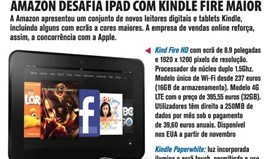 Amazon desafia iPad com Kindle Fire maior