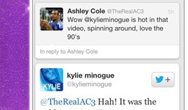 Ashley Cole de olho em Kylie Minogue