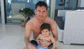 Messi orgulhoso do filho Thiago