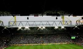 Descoberta bomba da II Guerra Mundial no estádio do Dortmund