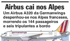 Airbus A320 despenha-se nos Alpes franceses
