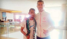 Martunis esteve com o ídolo Ronaldo no Estoril
