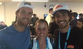 Michelle encontra João Sousa e Frederico Marques em Melbourne