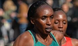 Gladys Cherono falha maratona por lesão