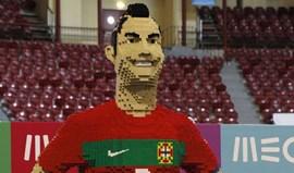 Cristiano Ronaldo em lego no Campo Pequeno
