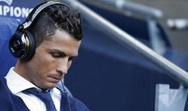 Ronaldo cabisbaixo no Etihad Stadium