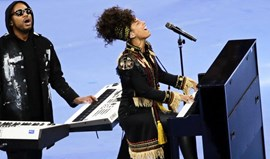 Alicia Keys encantou bancadas do Giuseppe Meazza