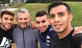 Salvio mantém forma ao lado de Ángel Correa
