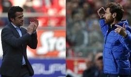 Marco Silva e Villas-Boas na rota do Mestalla