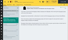 Football Manager 2017 terá Brexit