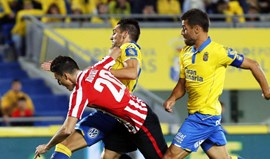 Hélder Lopes ajuda Las Palmas a bater o Athletic Bilbao