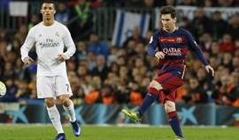 Ronaldo mais letal do que Messi nos duelos entre ambos no Camp Nou