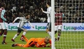Mourinho soma 6.ª vitória consecutiva e iguala Tottenham na quinta posição