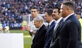 Figo feliz por voltar ao Bernabéu em dia importante para CR7
