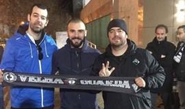 Leandro Silva esteve na Amoreira para apoiar a Briosa