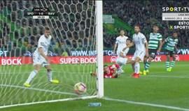 Cássio ainda negou o golo a Gelson, mas Alan Ruiz marcou mesmo