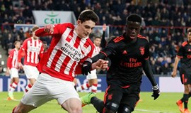 Youth League: PSV Eindhoven-Benfica, 1-1 (4-5 gp)