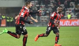 Le Bihan regressa 17 meses depois e... dá vitória ao Nice com um bis