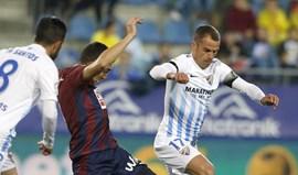 Duda volta à titularidade mas Málaga perde em Eibar