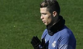 Ronaldo em dúvida para o jogo de sábado