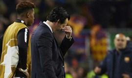 Unai Emery sai de Barcelona com críticaspara a arbitragem