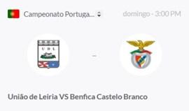 U. Leiria-Benfica C. Branco (Campeonato de Portugal Prio)