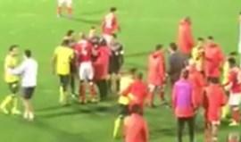 Luisão e Rui Vitória abordaram o árbitro no final