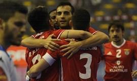 Benfica bate Pinheirense em jogo antecipado