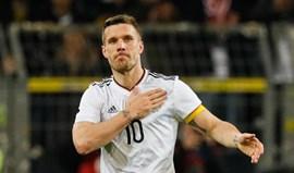 Podolski admite que despedida foi como nos filmes