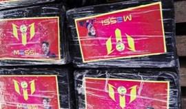 Autoridades peruanas apreendem 1.400 quilos de cocaína... com aimagem de Messi