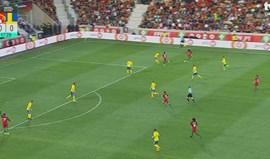 'Trivelada' perfeita de Gelson abre caminho ao golo de Ronaldo