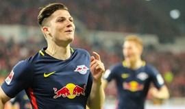 Leipzig vence fora e encurta distância para o líder Bayern Munique