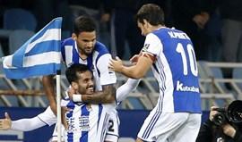 Real Sociedad bate Sp. Gijón e volta ao sexto lugar