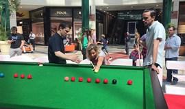 Telma Monteiro e Alexis Santos divertem-se no snooker