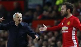 Mourinho revela que Juan Mata não jogará mais esta época