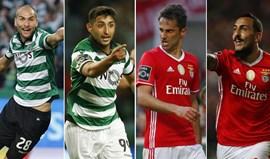 Sporting-Benfica: Os quatro bombardeiros