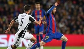 Juventus festeja regresso às 'meias' com nulo em Camp Nou