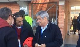 Vieira e Rui Vitória apoiam grupo em Nyon