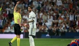 Merengues vão recorrer do castigo a Sergio Ramos
