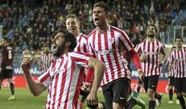 Athletic Bilbao vence em Eibar com golo nos descontos