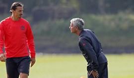 Futuro de Ibra no United? Mourinho só quer que o sueco recupere da lesão