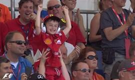 Menino faz furor no GP Espanha