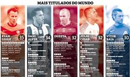 O que têm em comum Giggs, Dani Alves, Iniesta, Vítor Baía e... Júlio César?