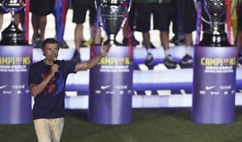 Barcelona vai despedir-se de Luis Enrique com uma tarja gigante
