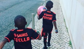 Filhas de Madonna já vestem à Benfica